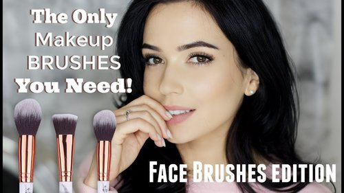 Face Makeup Brushes For Beginners | Start with just THREE Brushes! - YouTube