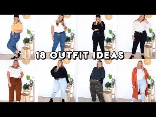 18 Plus Size Outfit Ideas   Plus Size Lookbook - YouTube