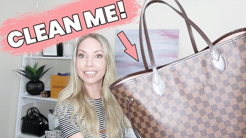 How To Clean Louis Vuitton Bag In 5 Minutes! (NEVERFULL HANDBAG) - YouTube