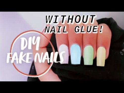 How To Make Fake Nails At Home Without Nail Glue | DIY fake nails from home supplies - YouTube