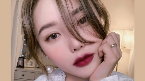 Daily Burgundy Makeup🥀 (With subs) 데일리 버건디 메이크업 - YouTube