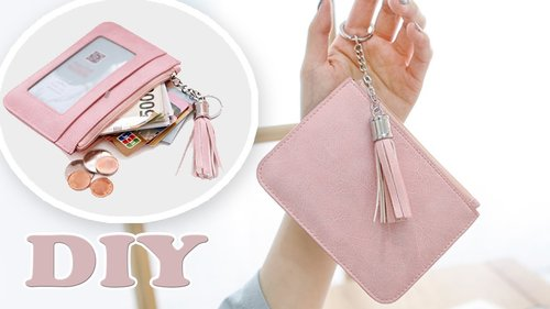 DIY COMPACT PURSE BAG // PU Lather Money & Credit Card Holder Trinket Pouch - YouTube