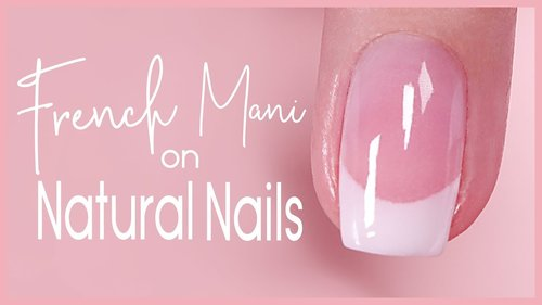 Dip French Tip Tutorial on Natural Nail  - YouTube