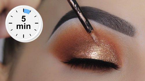 "<div class=""photoCaption"">EASY 5 MINUTE Bronze Eye Makeup Tutorial - YouTube</div>"