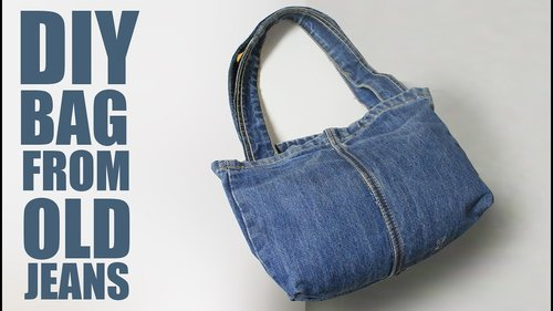 """<div class=""""photoCaption"""">DIY Tote Bag from Jeans - Old Jeans Bag Ideas - YouTube</div>"""