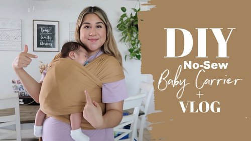 DIY NO-SEW BABY CARRIER! - YouTube