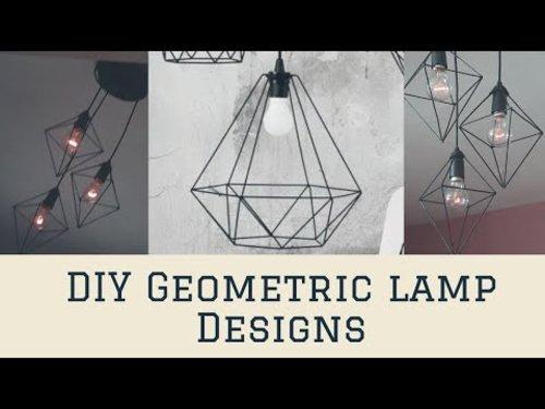 DIY Geometric lamp design || EASY HOME DECOR - YouTube