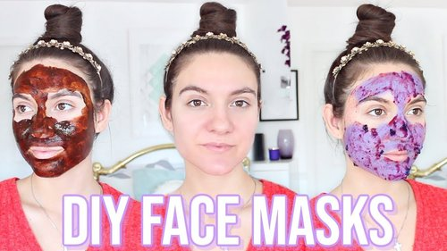 4 DIY Face Masks For GLOWING SKIN & ACNE SCARS !! - YouTube