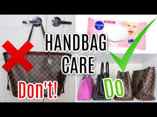 Designer Handbag Care TIPS *Do's and Don't's* - YouTube