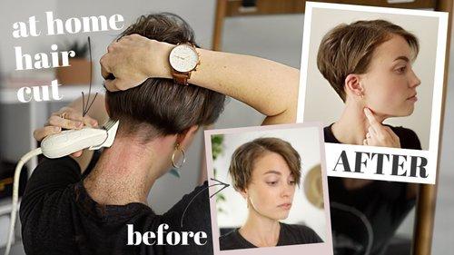 How I CUT MY HAIR Myself | At Home Haircut Routine - YouTube