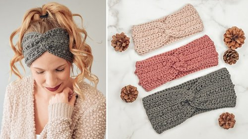 Easy Crochet Headband Tutorial - Picot Headband Tutorial - Free Crochet Headband Pattern - YouTube