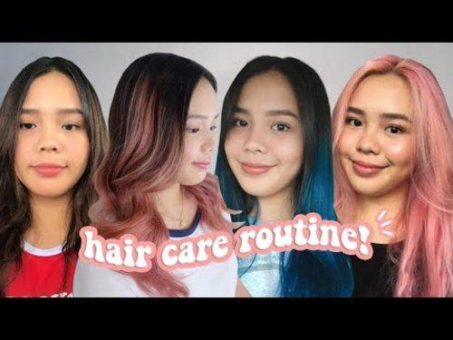 hair care routine! (bleached hair) | darlene - YouTube