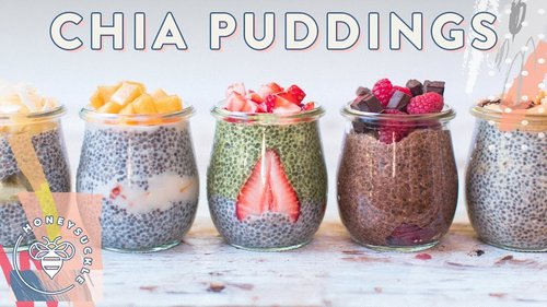 5 CHIA PUDDINGS with So Delicious - VEGAN RECIPE | HONEYSUCKLEYouTube