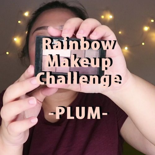 Look keenam #mindysrainbowchallenge ! .Asli nih bingung warna nila, warna apa an 😂 Taunya ungu gini, ku kira macam lilac gitu. Okey baiq! ..🌈 @maybelline The City Mini Palette🌈 @madame.gie Natural Glam Eyeshadow Palette🌈 @maybelline The Blushed Palette🌈 @madame.gie Lip Tint🌈 @blinkcharm Eyelash...#reginapittutorial#reginapitcom #bvlogger #bvloggerid #indobeautygram #Clozetteid  #indonesiababe  #sbybeautyblogger  #beautiesquad #IVGBeauty #indovidgram #indovlogger #setterspace #kbbvfeatured #beautybloggerindonesia
