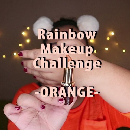 Look kedua #mindysrainbowchallenge 🍊 . 🌈 Focallure Endless Possibilities 🌈 @getthelookid Lipstick 🌈 @blinkcharm Fake Lashes . . . .  #reginapittutorial #reginapitcom  #bvlogger #bvloggerid #indobeautygram  #Clozetteid  #indonesiababe  #sbybeautyblogger  #beautiesquad #IVGBeauty #indovidgram #indovlogger #setterspace #kbbvfeatured #beautybloggerindonesia