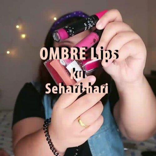5 COMBO OMBRE LIPS ku. --Combo2 ini sering aku pakai setiap hari. Aku juga anak oplosan lipstick tapi, kali ini aku bikin yg omber cukup dua warna aja yah 😂--🌈 @arra_beauty Bungo - Soka🌈 @purbasarimakeupid Azalea - Magnolia🌈 @eternallyodessa Mauvely x @pixycosmetics Edgy Plum 🌈 @bellaoggiitaliaofficial Parisian - WP 306 .🌈 @getthelookid Nudist x @madame.gie Classy......#reginapittutorial#reginapitcom #bvlogger #bvloggerid #indobeautygram #Clozetteid  #bunnyneedsmakeup #sbybeautyblogger  #beautiesquad #IVGBeauty #indovidgram #indovlogger #setterspace #kbbvfeatured #beautybloggerindonesia