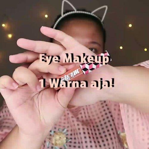 MAKEUP 1 EYESHADOW AJA 🦄.🌈 @mizzucosmetics hide'em corector and concealer🌈 @rollover.reaction Cushion .🌈 @viva.cosmetics Perfection Natural Bright Powder. 🌈 Focallure Everchanging🌈 Madame gie Silhouttr Blend Brow🌈 @altheakorea Spottlight glitter🌈 @essence_cosmetics Hey Cheeks .🌈 Catrice Dewy Ful Lips .🌈 @avoskinbeauty HTE........#reginapittutorial#reginapitcom #sbyglamsquad#bvlogger #bvloggerid #indobeautygram #Clozetteid  #indonesiababe #bunnyneedsmakeup #sbybeautyblogger  #beautiesquad #IVGBeauty #indovidgram #indovlogger #setterspace #kbbvfeatured #beautybloggerindonesia