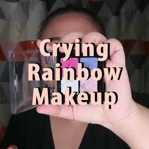 🌈 Crying Rainbow Makeup Tutorial 🌈..🌈 @bellaoggiitaliaofficial @cnfstoreofficial Feel Bronzer, Foundation .🌈 @viva.cosmetics powder🌈 Catrice Lip gloss🌈 @nyxcosmetics @nyxcosmetics_indonesia sparkle glitter .🌈 @sleekmakeup uvbright eyeshadow palette🌈 @gobancosmetics eyeliner .🌈 @altheakorea creamy concealer🌈 @thebalm @thebalmid marryloumanizer .... .#reginapittutorial#reginapitcom #bvlogger #bvloggerid #indobeautygram #Clozetteid  #indonesiababe  #sbybeautyblogger  #beautiesquad  #indovidgram #indovlogger  #beautybloggerindonesia  #cryingrainbow #cryingrainbowmakeup #makeupart