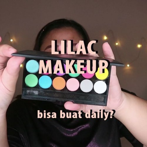 Lilac tahun ini lagi hits banget!Aku cobain buat makeup pakai warna lilac nih. Kayaknya masih wearable lah ya.-Btw, mon maap bulu mata we njengat! Hahhahaa Gpapa lah ya. Baru sadar pas data di pindah ke hp. 😂.🌈 @mizzucosmetics eyeshadow base🌈 @sleekmakeup eyeshadow palette🌈 @madame.gie eyeshadow palette🌈 @madame.gie bb foundation🌈 @caringbybiokos_mt no more shine powder🌈 @altheakorea concealer🌈 @absolutenewyork_id storbibg and highlight palette🌈 @makeoverid blush on🌈 @eternallyodessa lipcream🌈 @innisfreeindonesia lip glow🌈 @bursasoftlen Matake - Grey .. ...#reginapittutorial#reginapitcom #bvlogger #bvloggerid #indobeautygram #Clozetteid  #indonesiababe  #sbybeautyblogger  #beautiesquad #IVGBeauty #indovidgram #indovlogger #setterspace #kbbvfeatured #beautybloggerindonesia