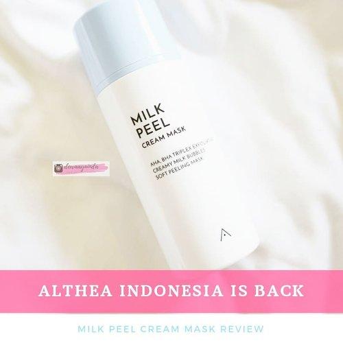 Hai kalau kamu lagi cari masker yang langsung bisa bikin wajah cerah tanpa harus menunggu 10 menit 15 menit?  Kenalin nih Milk Peel Cream Mask Althea Korea. __ Haaah?Althea? Bukannya Althea udah nggak ada di Indonesia? Sudah balik shayyy. Serius? Iya!! __Biar nggak Hah?Hah? Kindly visit www.akucantikkk.com to read more 👌__ #altheaindonesia #altheanangels #altheamilkpeel #BaliBeautyBlogger #clozetteid