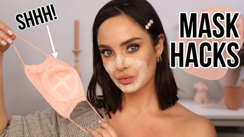 10 Mask Tips, Tricks & Hacks To Save Your Skin/Makeup! - YouTube