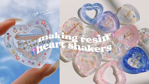 MAKING RESIN HEART SHAKERS 💖✨ resin art with me - YouTube