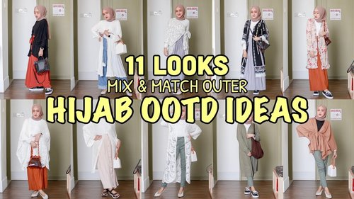 MIX & MATCH OUTER | 11 LOOKS OOTD IDEAS 2019 #04 (Indonesia) | Seviq Febinita - YouTube