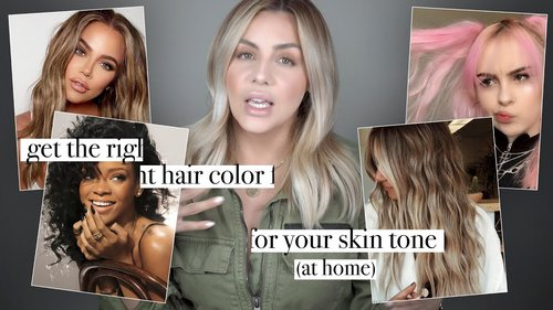 Get the Right Hair Color for your Skin Tone ! ( at Home ) - YouTube