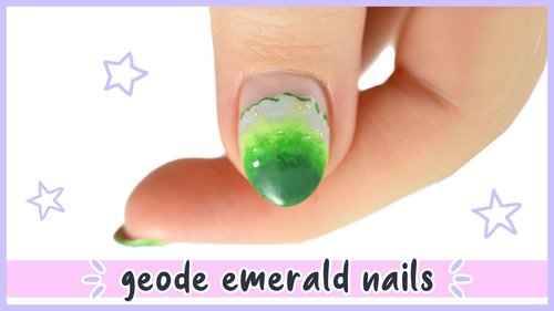 New Nail Art 2020 ♡ Realistic Emerald Geode Nail Design! - YouTube