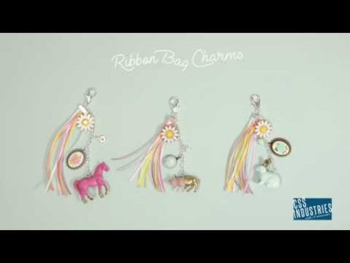 """<div class=""""photoCaption"""">Quick DIY Ribbon Bag Charms 