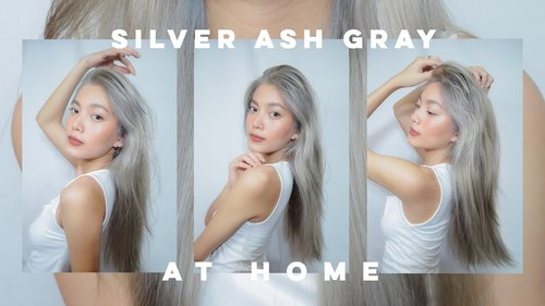 BLEACHING MY HAIR AND DYEING IT SILVER ASH/GRAY AT HOME 👩🏻‍🦳🤍 (AFFORDABLE) - YouTube