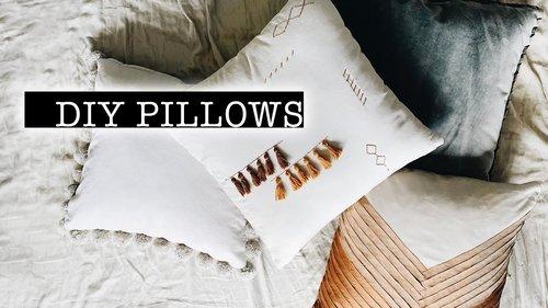 DIY Throw Pillows - YouTube