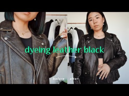 How To Dye a Leather Jacket - Turning a Brown Jacket Black! - YouTube
