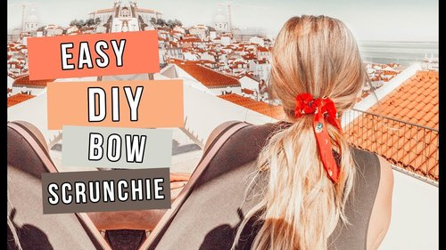"""<div class=""""photoCaption"""">Make Your Own Bow Scrunchies! 