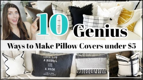 DIY Pillow Cover Hacks YOU Need to Try / 10 Genius Ways to Make Pillow Covers UNDER $5 - YouTube