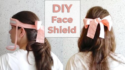 How to Make Faceshield | DIY face shield mask | Cute and Easy Face Shield with BOW - YouTube
