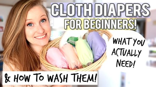 CLOTH DIAPERS FOR BEGINNERS | CLOTH DIAPER ROUTINE - YouTube
