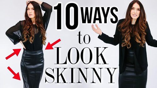 10 Ways To INSTANTLY Look SKINNY (but in a GOOD way) - YouTube