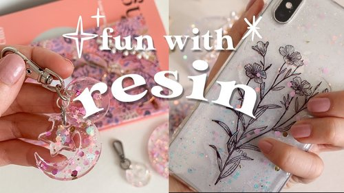 Fun with Resin ✨ How to make resin crafts and easy DIY silicone mould - YouTube