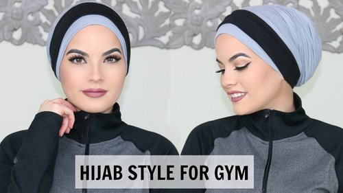 BEST HIJAB STYLE FOR THE GYM/ SPORT - YouTube