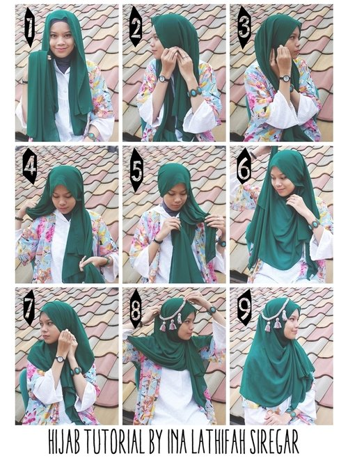 An old Hijab Tutorial by me! Hope you love it XO [inalathifahs.blogspot.com]