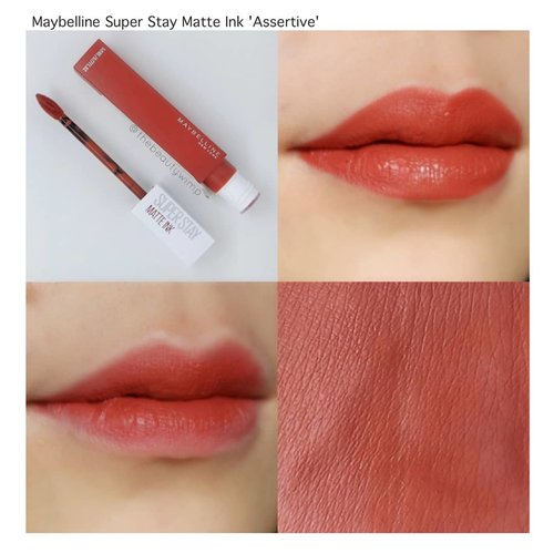 (3/3)MAYBELLINE SUPER STAY MATTE INK  in ASSERTIVE.Compared to the first super stay matte ink series, i do think these newer series have better formula. It is not too drying yet has a top notch staying power....#superstaymatteink #maybellinesuperstaymatteink #maybellinesuperstay @maybelline#clozetteid #beautyblogger #faceoftheday #indobeautygram #lotd #instabeauty #clozzeteid #fotdibb #featuredibb #instamakeup #lipstickoftheday  #motdindo #lipstickswatch #FDbeauty #instablogger #makeupblogger #drugstorebrand #maybellineindonesia