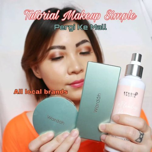FULL FACE SIMPLE MAKEUP TUTORIAL PERGI KE MALL ____ Deets @studiotropik Flawless Priming Water @wardahbeauty Flawless Cover Cushion 01 Light Beige (iya kegelapan 1 shade sih, makanya aku pake tipis-tipis, tp msh tolerable kok) #wardahbeauty Exclusive Series Palette 01 @mineralbotanica Glow Palette  @luxcrime Duo Lipcare Strawberry Glaze ____ __ _ _ #wakeupandmakeup #bunnyneedsmakeup #koreanmakeup  #clozzeteid #clozetteid #undiscovered_mua #setterspace #ccchanelbeauty_id  #indobeautygram #beautygoersid #instamakeup @setterspace @tampilcantik  @cchanel_beauty_id @tips_kecantikan  @popbela_com  #makeup #makeuptutorial  #beautyenthusiast #motd #100daymakeupchallenge
