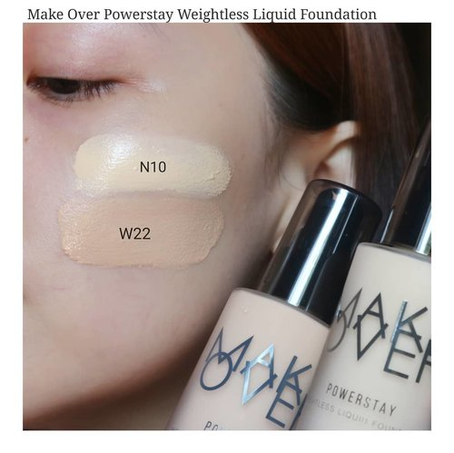 (DETAIL VIDEO ON NEXT POST).Two shades of Make Over Powerstay Weightless Liquid Foundation I own. I hope it helps a bit.I have to mix these 2 to get the right shade to my skintone.Check next post for texture detail and how it blends on my (dry) skin.I also have reviewed their latest cushion and dig it soo much , pls do scroll down a bit..If you have tried this foundation from @makeoverid tell me what yu think about it..#fakeupfix #makeupforbarbies2 #foubdation  #makeoverdemimatte #makeover #bretmanvanity  #beautygram #foundation #undiscovered_muas #morphebabe #slave2beauty #wakeupandmakeup #makeupobsession #fiercesociety #bunnyneedsmakeup #hypnaughtymakeup #makeupinspiration #clozetteid #beautybay