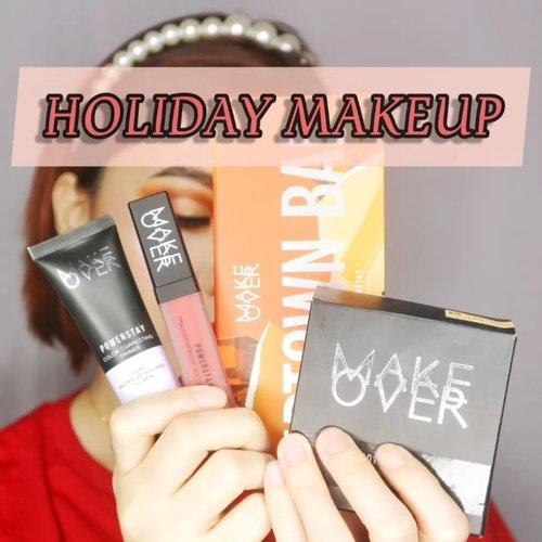 HOLIDAY MAKEUP WITH MAKEOVER PRODUCTS!! ___ Mau bilang one brand tutorial tapi ketambahan @studiotropik as primer ✨ __ @makeoverid @makeover.surabaya Eyeshadow : Uptown Bae Primer : Powerstay Color Correcting Lilac Cushion : Makeover N10 Highlighter : Ultra Glow Highlighter Lipstick : Powerstay Transferproof Matte  __ Accs are from @xoxobebe.id . . . #beautygoersid #instamakeup  #makeuptutorial  #beautyenthusiast  #100daymakeupchallenge #makeupfeed #unleashyourinnerartist #creativemakeup  #makeuptutorial @setterspace @tampilcantik  @cchanel_beauty_id @tips_kecantikan  @popbela_com  #makeuplooks #wakeupandmakeup #clozzeteid #sigmabrush #clozetteid #slave2beauty #wake2slay #eyeshadowtutorial  #amrezyshoutouts #undiscovered_muas #inssta_makeup #makeupaddict #featuremuas #morphebabe #beautyunderyourinfluencer