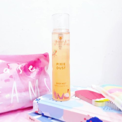 Tika-bell got Pixie Dust🦋, the latest Body Mist by @eminacosmetics💛💛. The orange🍊mix with vanilla bean scent feel so fresh. Thank you Emina😍😍 . . . #clozetteid #ggrep #bvloggerid #insviraltif #femaledaily #beautiesquad #beautybloggerid #bloggerperempuan #indonesianfemalebloggers #bloggermafia #kbbvmember #beautynesiamember #bodymist #parfume #eminabodymist #bloggerceria #beautybloggerindonesia #블로거 #얼짱 #뷰티블로거 #ブロガー#美容ブロガー #kawaii #かわいい