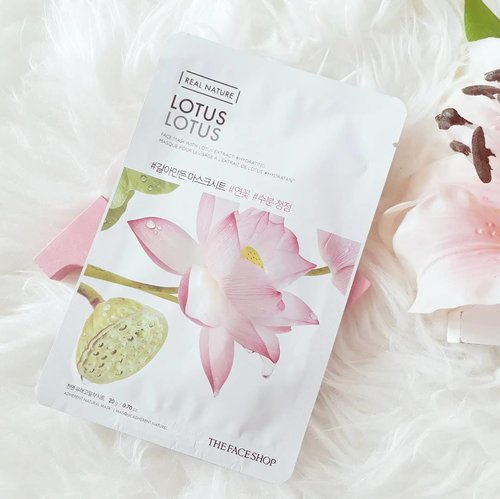 Another review about skincare💆. The Face Shop Real Nature Lotus sheet mask🌷. Starting this love month with review about cutie packaging product😍. The claim is this mask makes your skin hydrate and give a radiance✨. For full review just hit the link on profile, cheers😉 . . . #clozetteid #ggrep #wonderlandbykartika #bvloggerid #insviraltif #femaledaily #beautiesquad #beautybloggerid #bloggerperempuan #indonesianfemalebloggers #bloggermafia #kbbvmember #kbbvbeautypost #beautynesiamember #beautybloggerindonesia #skincare #makeupenthusiast #makeupjunkie #flatlay #bloggerceria #블로거 #얼짱 #뷰티블로거 #ブロガー#美容ブロガー #kawaii #かわいい