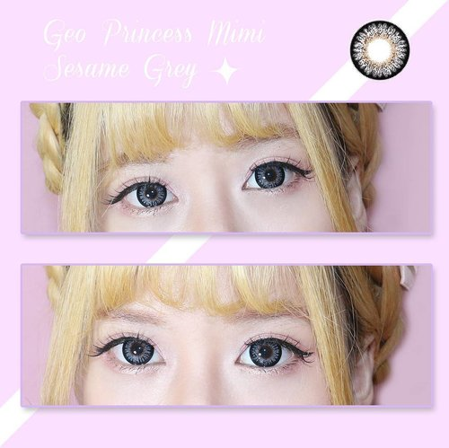 Geo Princess Mimi Sesame greys were just freaking gorgeous. The colors blend in nicely with my natural brown eye color. There are brown dots towards the center of the lenses which design a nice blending effect. I would highly recommend them if you're after some gorgeously clear grey lenses that look good no matter what colour your eyes are, these lenses are perfect if you want to create a dolly effect.. you can buy these lenses on @lensflavors#clozetteid #miharujulieadv #circlelens #review #blogger #softlens #geolens