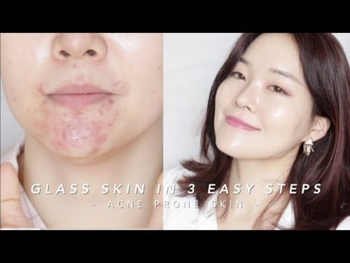 How to get Glass Skin in 3 steps #lazygirlhack | 단 3단계로 광채피부만들기! - YouTube