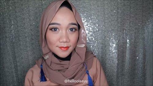 Orange daily makeup tutorial 🍊 . . #makeuptutorial #tutorialmakeup #tutorialmakeupnatural #tutorialmakeuphijab #tutorialmakeupvideo #clozetteid